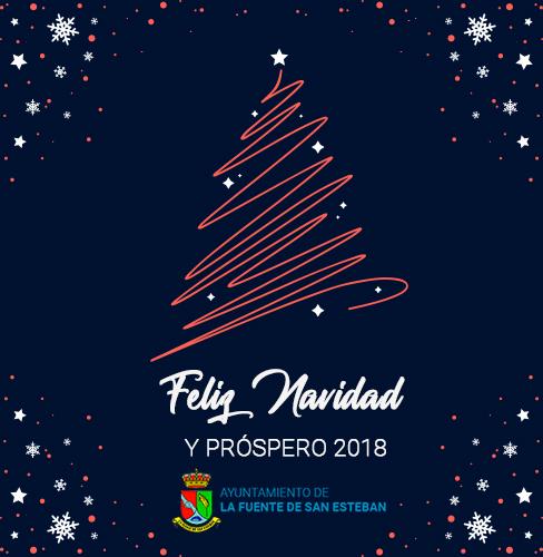 El Ayuntamiento de La Fuente de San Esteban os desea Feliz Navidad