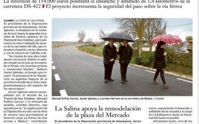 La Diputación mejora la conexión de Muñoz con la Fuente de San Esteban y la A-62