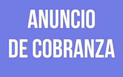 ANUNCIO DE COBRANZA