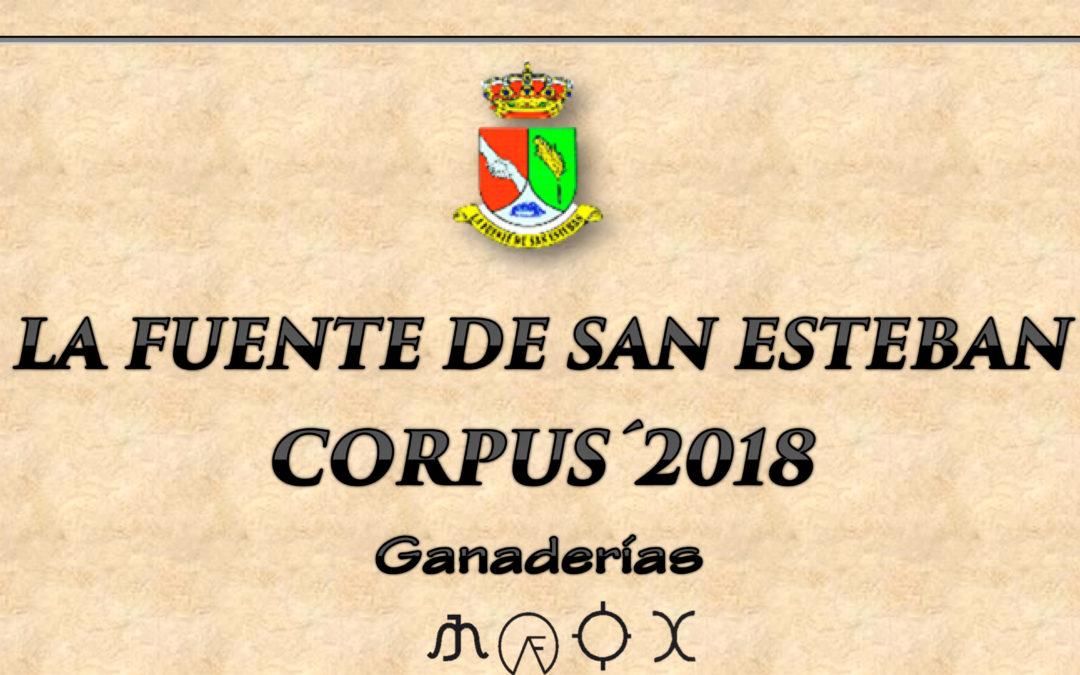 Corpus 2018: Ganaderías