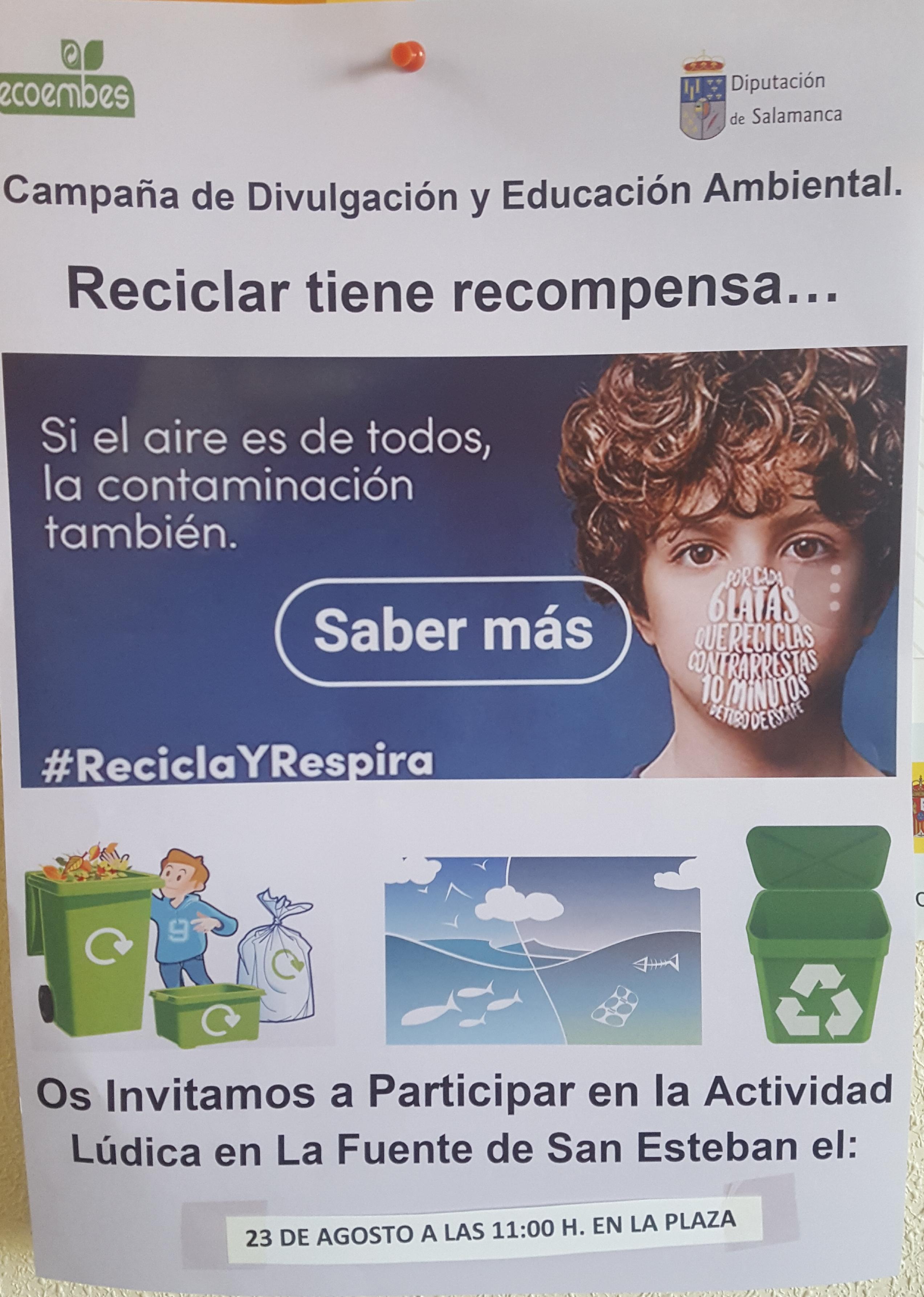 Cartel de reciclaje