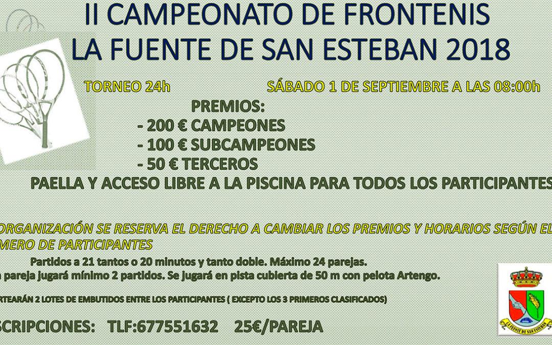 II Campeonato de frontenis la Fuente de San Esteban 2018