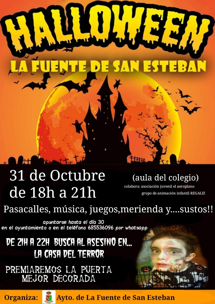 cartel-halloween-la-fuente-san-esteban