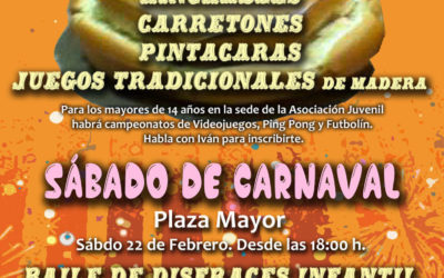 Jueves Merendero y Sábado de Carnaval