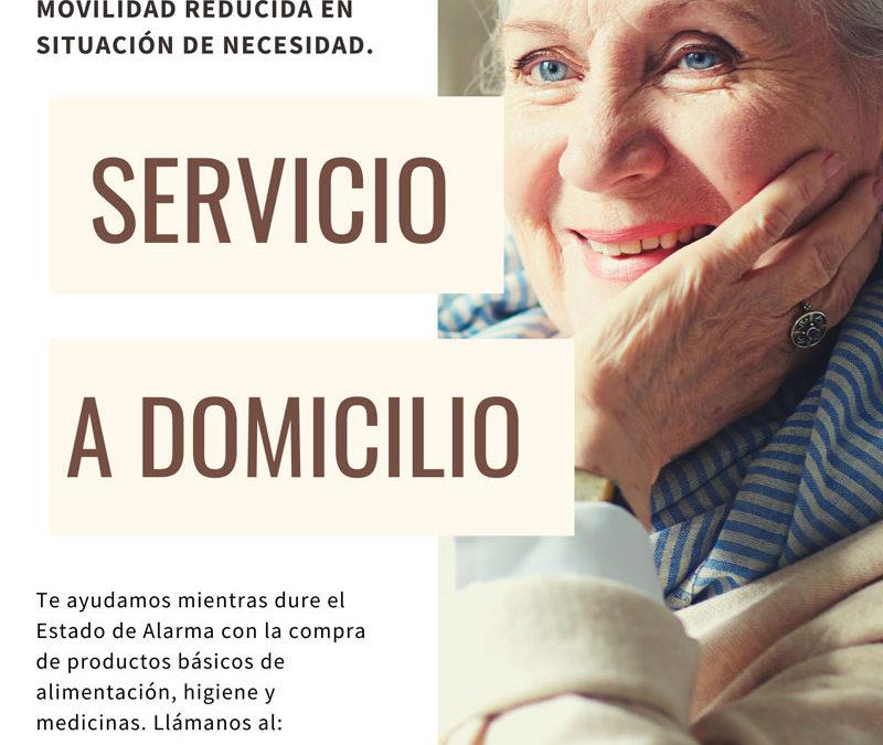 Servicio a domicilio para personas mayores o con movilidad reducida