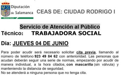 Cita previa trabajadora social jueves 4 de junio