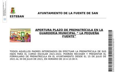 Apertura plazo de prematrícula en la guardería municipal