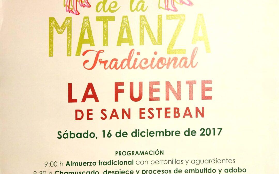 16 de diciembre: Fiesta de la matanza tradicional